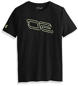 Under Armour Boys' SC30 Always On T-Shirt,Black /Quirky Lime