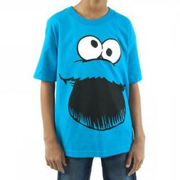 Sesame Street Big Face Cookie Monster Youth T-Shirt XL 14/16