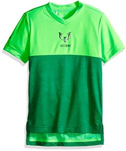 adidas Boys Soccer Messi Tee, Solar Green, X-Small