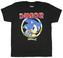 Sonic The Hedgehog Pointing Finger Sega Video Game Men's T-S