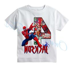 Spiderman Comic Superhero Custom T-shirt PERSONALIZE Birthda