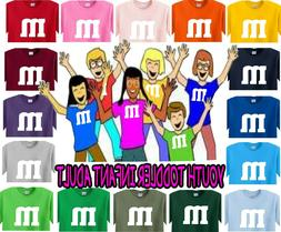 m&m t shirt Halloween costume candy shirts youth adult infan