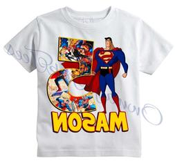 Superman Comic Superhero Custom T-shirt PERSONALIZE tshirt B