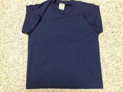 FRUIT OF THE LOOM T SHIRT BOY GIRL Youth Kids 10 12 Navy Blu