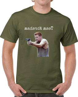 Team Abraham T Shirt Walking Dead Amc TV Novelty Clothing Un