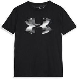 Under Armour Boys' Tech Big Logo Solid T-Shirt, Black /Steel