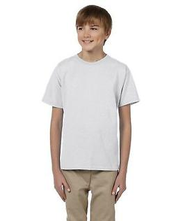 Fruit Of The Loom Tee Shirt Youth 5.6 oz Heavy Cotton 3931B