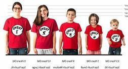 thing 1 and thing 2 t-shirts nice cute new kids adults thing