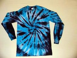 Tie Dye T Shirt Long Sleeve Adult Youth Spiral Cotton S M L