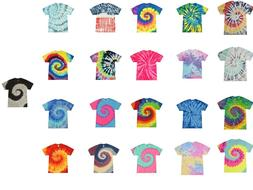 Tie Dye T-Shirts Multi-Color Kids & Adult Short Sleeve  Cott