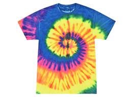 Tie Dye T-Shirts, Neon Rainbow, Youth XS - Youth L, Short Sl