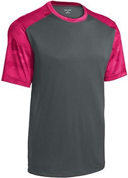 Joe's USA(tm Youth CamoHex Athletic Shirt-Pink-S