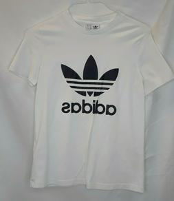 White Adidas T Shirt Youth Size S