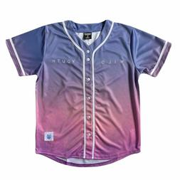 DABIN WILD YOUTH GRADIENT BASEBALL JERSEY SIZE S-XL SZ SMALL