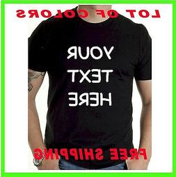 Your Custom Personalized T Shirt - Put Your TEXT - print wha