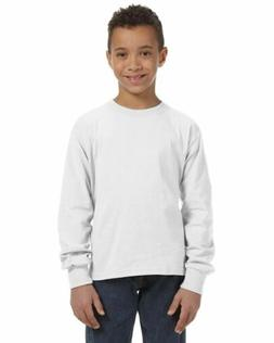Fruit of the Loom Youth 100% Cotton L/S Tee Long Sleeve T-Sh