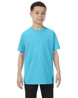 Hanes Youth 6.1 oz. Authentic-T Preshrunk Cotton Tagless T-S