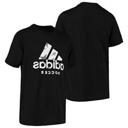 adidas Youth Badge of Sport Soccer T-Shirt - Black