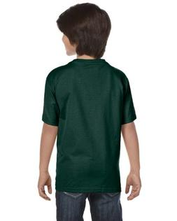 Hanes Youth 6.1 oz. Beefy-T, Large, DEEP FOREST
