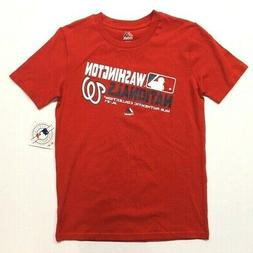 Youth Boy's  Majestic Washington Nationals Tee T-Shirt - Red