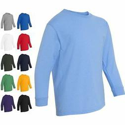 Gildan Youth Boys & Girls Heavy Cotton Kids Long Sleeve T Sh