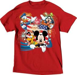 Disney Youth Boys Girls T Shirt Tee Top Mickey Mouse Donald