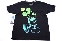 Disney Youth Boys T Shirt Glow In The Dark Painted Mickey Mo