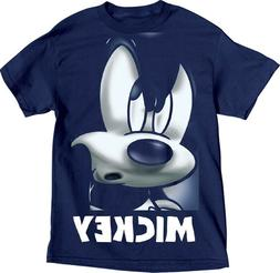 Disney Youth Boys T Shirt Tee Top Mickey Mouse Grill Big Fac