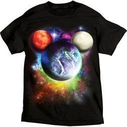 Disney Youth Boys T Shirt Tee Top Mickey Mouse Planet Glow I