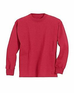Hanes Youth ComfortSoft TAGLESS Long-Sleeve T-Shirt Boy Crew