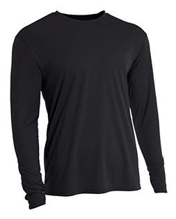 A4 Youth Cooling Performance Crew Long Sleeve T-Shirt, Black