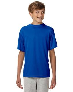 A4 Youth Cooling Performance Crew Neck Interlock T-Shirt, Ro