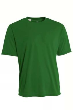 A4 Youth Cooling Dry-fit Performance Crew T-shirt Kelly Gree