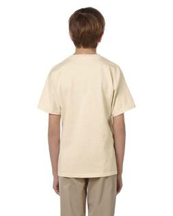 Fruit of the Loom Youth 5 oz HD Cotton T-Shirt - NATURAL - X