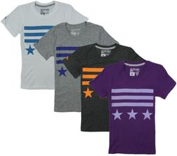 Adidas Youth Girls Bars and Stars Short Sleeve Graphic Tee T