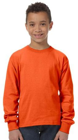 Fruit of the Loom Youth Heavy Cotton Long-Sleeve T-Shirt, La
