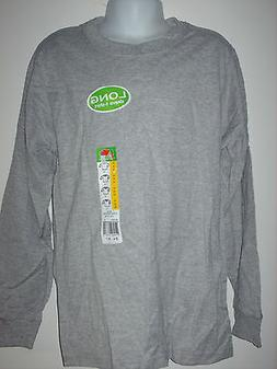 youth kids LONG SLEEVE t-shirt FOL Fruit of the Loom gray gr