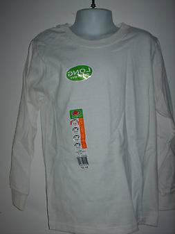 youth kids LONG SLEEVE t-shirt FOL Fruit of the Loom white c