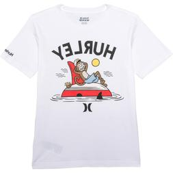 Hurley Youth Large Short Sleeve Character Graphic T-shirt Wh