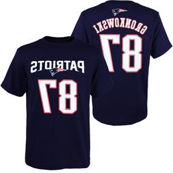Youth New England Patriots Rob Gronkowski Navy Name & Number