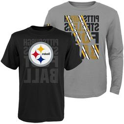 Youth Pittsburgh Steelers Playmaker Long And Short Sleeve T-