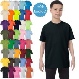 Gildan Youth Plain T Shirts Solid Cotton Short Sleeve Blank