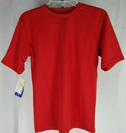 Youth Polyester Sports Short Sleeve T Shirt Champro Scarlet