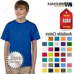 Gildan Youth T-Shirt 100% Cotton Short Sleeves Ultra Cotton