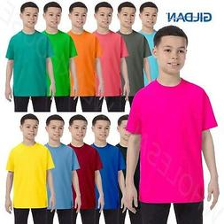 Gildan Youth Short Sleeves Heavy Cotton 5.3 oz XS-XL T-Shirt