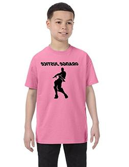 Allntrends Kids Youth T Shirt Orange Justice Move Dance Tren