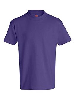 Hanes Youth 6.1 oz. Tagless T-Shirt, Large, PURPLE