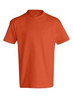 Hanes Youth 6.1 oz. Tagless T-Shirt, XS, ORANGE
