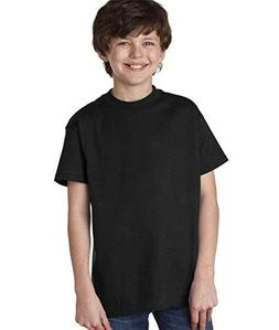 Hanes Youth 6.1 oz. Tagless T-Shirt, Medium, BLACK