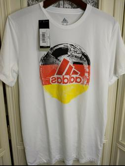 adidas Youth XL 18/20 White W/Red World Cup Activewear T-Shi